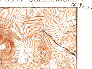Reduced fragment of topographic map en--usgs--063k--052053--(1924)--N044-30_W073-00--N044-15_W072-45; towns and cities Waterbury