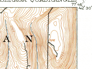 Reduced fragment of topographic map en--usgs--063k--052077--(1916)--N042-30_W078-00--N042-15_W077-45; towns and cities Alfred, Canaseraga