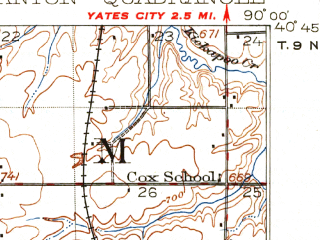 Reduced fragment of topographic map en--usgs--063k--052112--(1912)--N040-45_W090-15--N040-30_W090-00 in area of Lake Wee-ma-tuk; towns and cities Canton, Fairview, Farmington, Norris