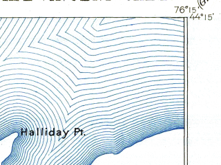 Reduced fragment of topographic map en--usgs--063k--052160--(1895)--N044-15_W076-30--N044-00_W076-15; towns and cities Cape Vincent