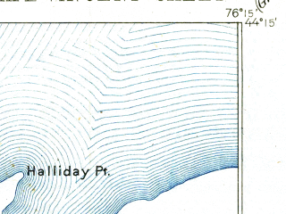 Reduced fragment of topographic map en--usgs--063k--052160--(1944)--N044-15_W076-30--N044-00_W076-15; towns and cities Cape Vincent