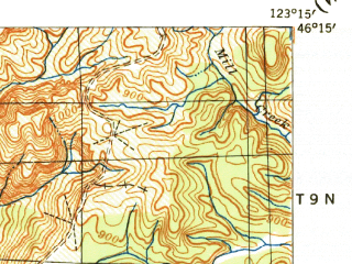 Reduced fragment of topographic map en--usgs--063k--052277--(1941)--N046-15_W123-30--N046-00_W123-15; towns and cities Cathlamet