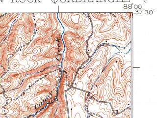 Reduced fragment of topographic map en--usgs--063k--052287--(1925)--N037-30_W088-15--N037-15_W088-00; towns and cities Cave-in-rock, Marion, Salem
