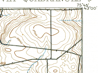 Reduced fragment of topographic map en--usgs--063k--052293--(1899)--N043-00_W076-00--N042-45_W075-45 in area of Cazenovia Lake; towns and cities Cazenovia, Deruyter, Fabius