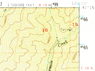 Reduced fragment of topographic map en--usgs--063k--052297--(1955)--N041-15_W123-15--N041-00_W123-00