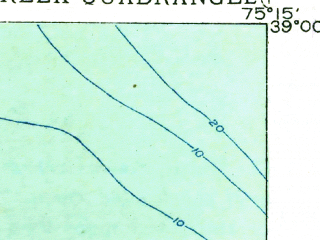 Reduced fragment of topographic map en--usgs--063k--052301--(1918)--N039-00_W075-30--N038-45_W075-15; towns and cities Milford, Milton, Slaughter Beach, Ellendale