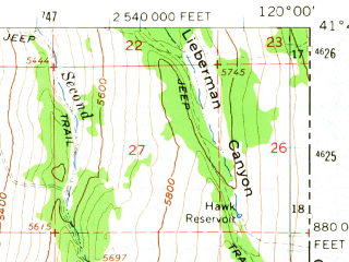 Reduced fragment of topographic map en--usgs--063k--052314--(1962)--N041-45_W120-15--N041-30_W120-00