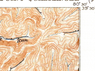 Reduced fragment of topographic map en--usgs--063k--052323--(1905)--N039-30_W080-45--N039-15_W080-30; towns and cities Salem, Smithfield