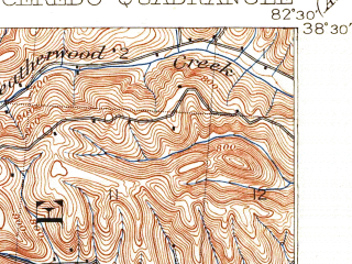 Reduced fragment of topographic map en--usgs--063k--052342--(1913)--N038-30_W082-45--N038-15_W082-30; towns and cities Ashland, Westwood, South Point, Bellefonte, Burlington