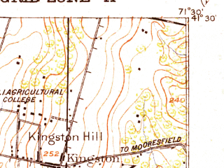 Reduced fragment of topographic map en--usgs--063k--052419--(1919)--N041-30_W071-45--N041-15_W071-30 in area of Worden Pond, Watchaug Pond; towns and cities Kingston, Wakefield-peacedale