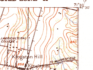 Reduced fragment of topographic map en--usgs--063k--052419--(1921)--N041-30_W071-45--N041-15_W071-30 in area of Worden Pond, Watchaug Pond; towns and cities Kingston, Wakefield-peacedale