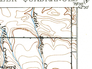 Reduced fragment of topographic map en--usgs--063k--052468--(1900)--N042-30_W079-15--N042-15_W079-00; towns and cities Cherry Creek, Forestville, Perrysburg