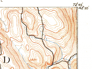 Reduced fragment of topographic map en--usgs--063k--052479--(1888)--N042-30_W073-00--N042-15_W072-45 in area of Littleville Lake