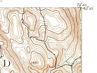 Reduced fragment of topographic map en--usgs--063k--052479--(1893)--N042-30_W073-00--N042-15_W072-45 in area of Littleville Lake