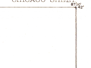 Reduced fragment of topographic map en--usgs--063k--052489--(1889)--N042-00_W087-45--N041-45_W087-30; towns and cities Chicago
