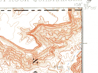 Reduced fragment of topographic map en--usgs--063k--052523--(1934)--N037-00_W108-45--N036-45_W108-30; towns and cities Shiprock