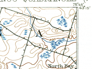 Reduced fragment of topographic map en--usgs--063k--052536--(1902)--N043-15_W076-00--N043-00_W075-45; towns and cities Bridgeport, Canastota, Chittenango