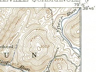 Reduced fragment of topographic map en--usgs--063k--052609--(1924)--N038-45_W079-30--N038-30_W079-15; towns and cities Franklin
