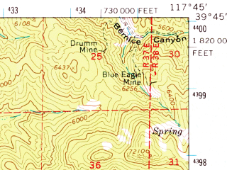 Reduced fragment of topographic map en--usgs--063k--052622--(1966)--N039-45_W118-00--N039-30_W117-45