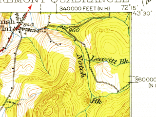 Reduced fragment of topographic map en--usgs--063k--052626--(1926)--N043-30_W072-30--N043-15_W072-15; towns and cities Claremont, Springfield