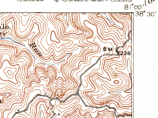 Reduced fragment of topographic map en--usgs--063k--052639--(1910)--N039-30_W080-30--N039-15_W080-15; towns and cities Clarksburg, Bridgeport, Shinnston, Anmoore, Worthington