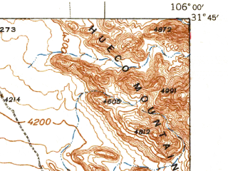 Reduced fragment of topographic map en--usgs--063k--052697--(1941)--N031-45_W106-15--N031-30_W106-00; towns and cities Fabens, Clint, Horizon City, Sparks