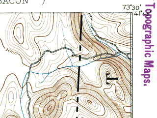 Reduced fragment of topographic map en--usgs--063k--052709--(1894)--N041-45_W073-45--N041-30_W073-30 in area of Whaley Lake; towns and cities Pawling, Dover Plains