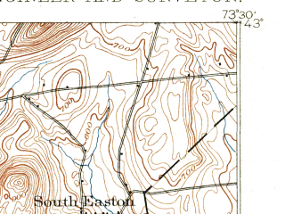 Reduced fragment of topographic map en--usgs--063k--052751--(1893)--N043-00_W073-45--N042-45_W073-30 in area of Tomhannock Reservoir; towns and cities Cohoes, Mechanicville, Schaghticoke, Stillwater, Valley Falls