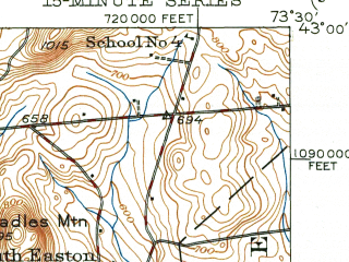 Reduced fragment of topographic map en--usgs--063k--052751--(1949)--N043-00_W073-45--N042-45_W073-30 in area of Tomhannock Reservoir; towns and cities Cohoes, Mechanicville, Schaghticoke, Stillwater, Valley Falls