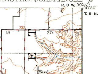 Reduced fragment of topographic map en--usgs--063k--052757--(1913)--N040-30_W091-00--N040-15_W090-45; towns and cities Colchester, Plymouth, Tennessee