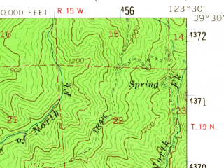 Reduced fragment of topographic map en--usgs--063k--052858--(1960)--N039-30_W123-45--N039-15_W123-30