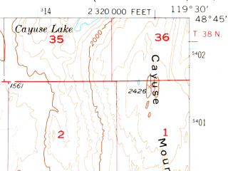 Reduced fragment of topographic map en--usgs--063k--052862--(1957)--N048-45_W119-45--N048-30_W119-30; towns and cities Riverside