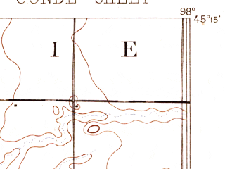 Reduced fragment of topographic map en--usgs--063k--052867--(1894)--N045-15_W098-15--N045-00_W098-00; towns and cities Conde, Turton, Verdon