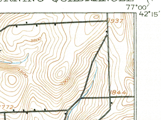 Reduced fragment of topographic map en--usgs--063k--052950--(1914)--N042-15_W077-15--N042-00_W077-00; towns and cities Corning, Addison, Gang Mills, Painted Post