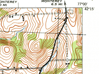 Reduced fragment of topographic map en--usgs--063k--052950--(1944)--N042-15_W077-15--N042-00_W077-00; towns and cities Corning, Addison, Gang Mills, Painted Post