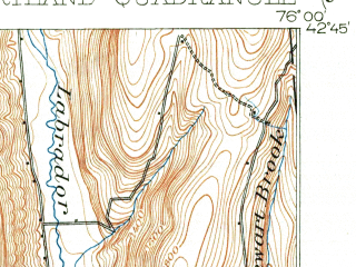 Reduced fragment of topographic map en--usgs--063k--052970--(1903)--N042-45_W076-15--N042-30_W076-00; towns and cities Cortland, Cortland West, Homer, Mcgraw