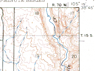 Reduced fragment of topographic map en--usgs--063k--053004--(1948)--N038-45_W105-30--N038-30_W105-15