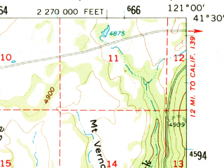 Reduced fragment of topographic map en--usgs--063k--053059--(1962)--N041-30_W121-15--N041-15_W121-00