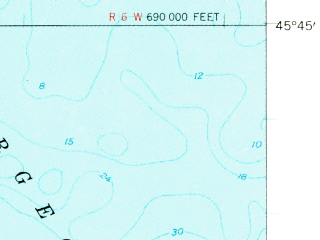 Reduced fragment of topographic map en--usgs--063k--053106--(1958)--N045-45_W085-15--N045-30_W085-00