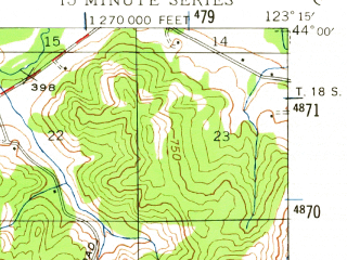 Reduced fragment of topographic map en--usgs--063k--053109--(1942)--N044-00_W123-30--N043-45_W123-15