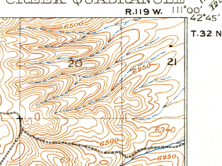 Reduced fragment of topographic map en--usgs--063k--053110--(1915)--N042-45_W111-15--N042-30_W111-00