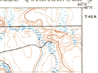 Reduced fragment of topographic map en--usgs--063k--053124--(1899)--N046-15_W088-30--N046-00_W088-15; towns and cities Alpha, Crystal Falls