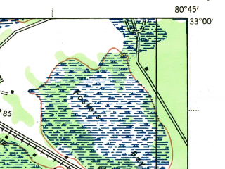 Reduced fragment of topographic map en--usgs--063k--053143--(1943)--N033-00_W081-00--N032-45_W080-45