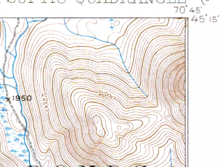 Reduced fragment of topographic map en--usgs--063k--053148--(1935)--N045-15_W071-00--N045-00_W070-45 in area of Mooselookmeguntic Lake, Parmachnee Lake