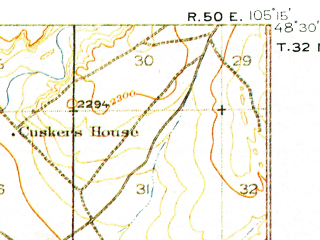 Reduced fragment of topographic map en--usgs--063k--053160--(1910)--N048-30_W105-30--N048-15_W105-15