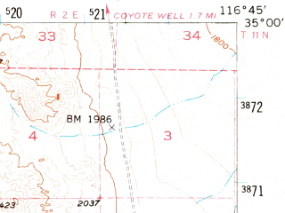 Reduced fragment of topographic map en--usgs--063k--053173--(1956)--N035-00_W117-00--N034-45_W116-45; towns and cities Nebo Center