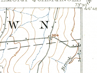 Reduced fragment of topographic map en--usgs--063k--053199--(1913)--N044-45_W073-45--N044-30_W073-30; towns and cities Morrisonville, Peru, Plattsburgh West