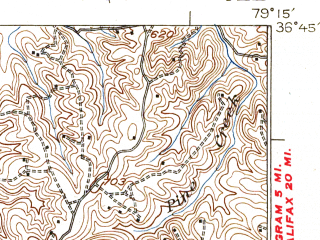 Reduced fragment of topographic map en--usgs--063k--053205--(1925)--N036-45_W079-30--N036-30_W079-15; towns and cities Danville