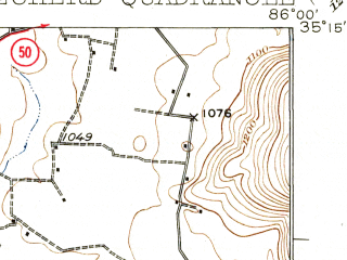 Reduced fragment of topographic map en--usgs--063k--053285--(1928)--N035-15_W086-15--N035-00_W086-00; towns and cities Winchester, Cowan, Decherd