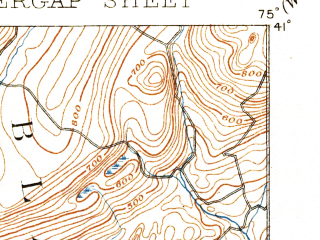 Reduced fragment of topographic map en--usgs--063k--053319--(1893)--N041-00_W075-15--N040-45_W075-00; towns and cities Stroudsburg, Bangor, East Bangor, Portland, Roseto